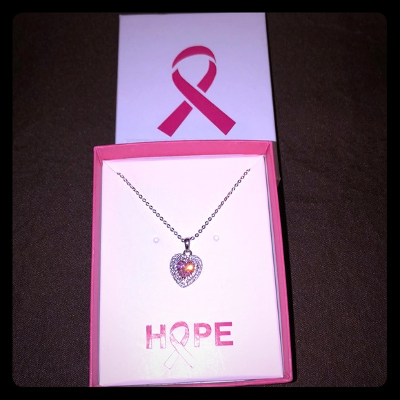 Jewelry - NEW Breast Cancer Awareness Hope Necklace Pink